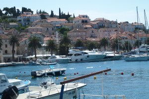 Hvar from across the bay