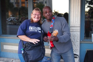 Accosted by a busker in Memphis