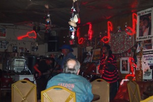 Inside Red's Blues Club. Big A singing.
