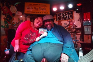 Big Al Carson, really well known in the blues world at the Funky Pirate Club Bourbon Street