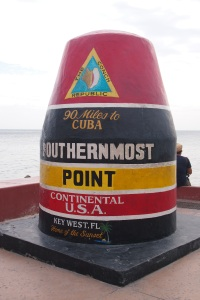 The southern most point.