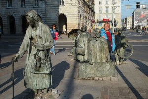 Among amazing sculptures in Wroclaw Poland