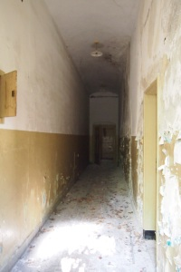 Inside the crumbling building that was Mum's school.