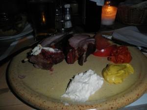My first Slovenian dinner of smoked pork