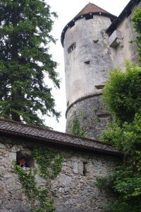 Lake Bled Castle. There I am in that tiny window!