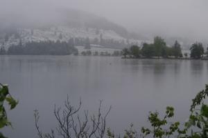 We could sort of see Lake Bohinj.
