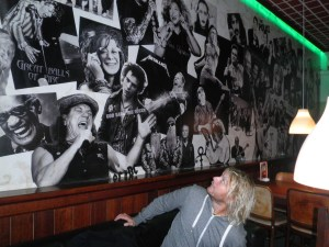 The wall of fame at Kult Klub Lake Bled