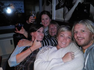 Sally, Fiona, Skye, Ginski and me at the Kult Klub Lake Bled