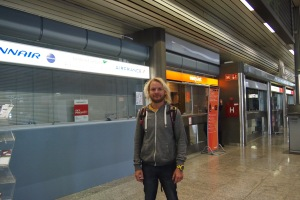 Farewell son from Ljubljana airport.