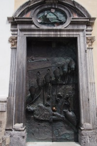 The awesome door to the church of St Nicholas
