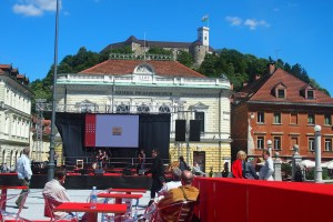 Concert in front of the Academia Philharmonicorum all overseen by the castle