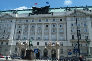 Statue of Field Marshal Radetzky in front of what used to be the Ministry of War building