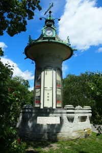Clock tower with barometer Stadtpark