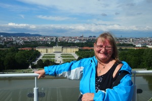 From the top of the Gloriette to the castle.