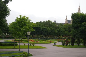 Part of the Volksgarten and the beautiful roses.