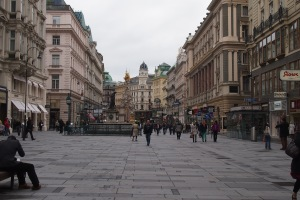 Graben, the massive pedestrian shopping street, centre of Vienna
