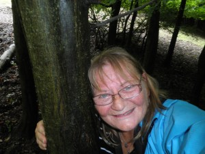 Selfie tree hugging in the Vienna Woods