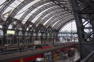 Dresden railway station.