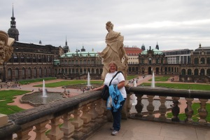 Overlooking the Zwinger central courtyard