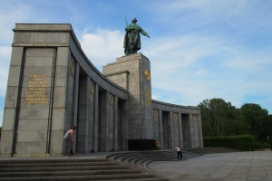 Soviet memorial in the Tiergarten. The skateboarders enjoy those steps.