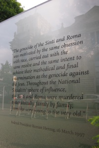 Part of the story of the Sinti and Roma holocaust