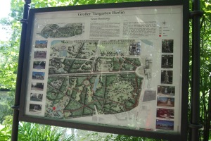 The map that gives you an idea of how big the Tiergarten really is.