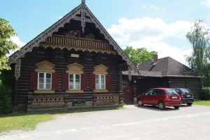 One of the wooden houses in Alexandrowka