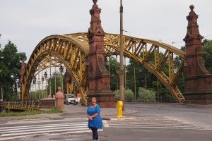 Grunwaldzki Bridge, one of the best known in Wroclaw.