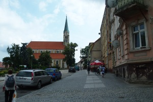 A street in the picturesque town of Sobotka