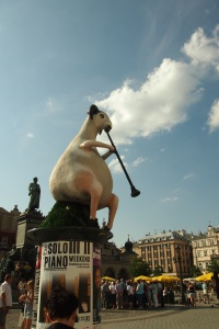 The goat statue for the July Jazz Festival