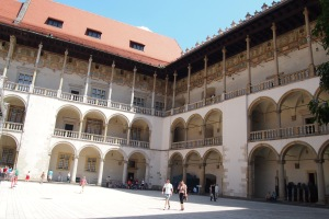 Part of the internal quadrangle of Wawel castle.