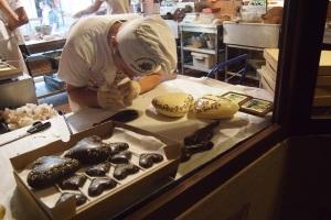 Chocolatier at work