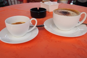 Super expensive coffee at the Rialto, but so worth it.