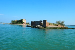 Ruins on the lagoon.