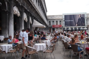 St Marks Square at lunch time
