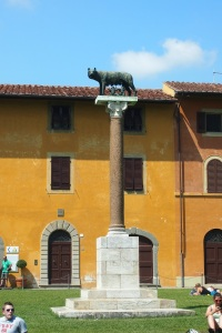 Romulus, Remus and the She-Wolf in the Campo dei Miracoli