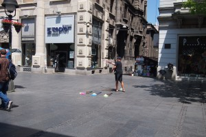 Tether tennis sales? On Knez Mihailova? Why not.
