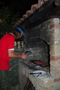 Preparing the barbecue