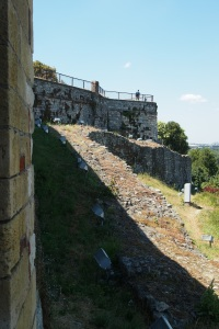 Wall of the fortress on the river side