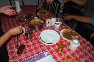 The start of palacinke (crepe) night