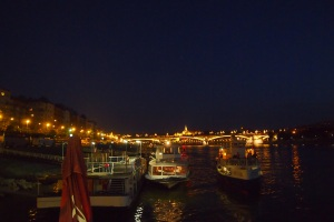 From my boat hotel at night