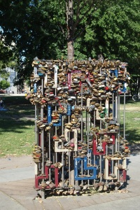 Love locks around the love tree