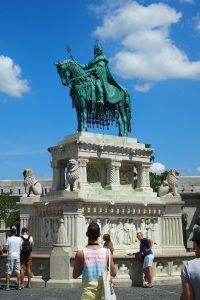Equestrian statue of King Saint Stephen or Stephen I of Hungary, Buda Castle Hill