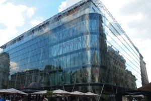 Glass shopping mall