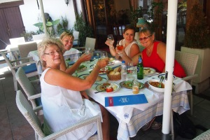 4 ladies 3 nationalities and lunch on Skardalija - just awesome.