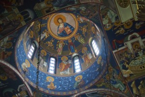 Inside St Sava Cathedral.