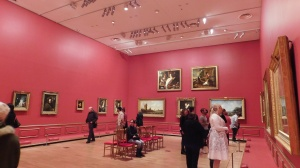 One of the display rooms at the Hermitage exhibition