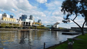Along the Yarra.