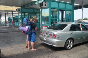 Backpackers at the border