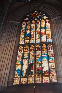 Stained glass in Uppsala Cathedral